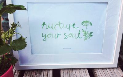 Nurture your soul – FREE printable #3