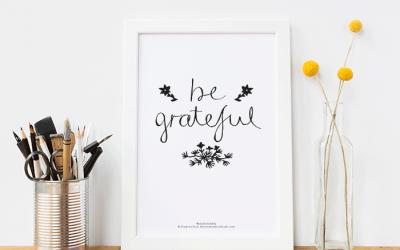 Be Grateful – FREE Printable #7