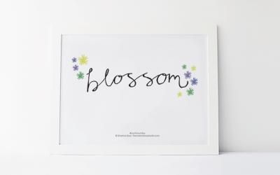 Blossom – Free Printable #9