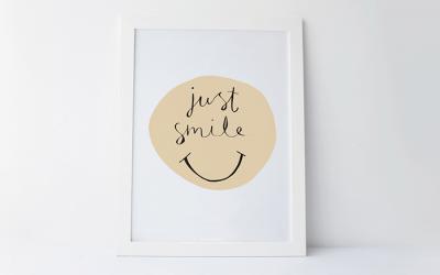 Just Smile – Free Printable #8
