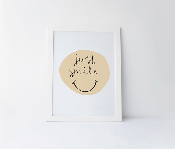 Just Smile – Free Printable #8