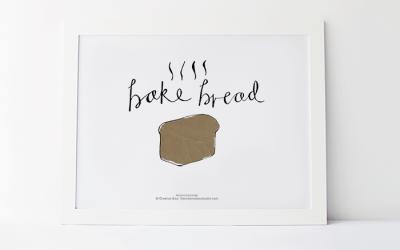 Bake Bread Foodie Printable #10