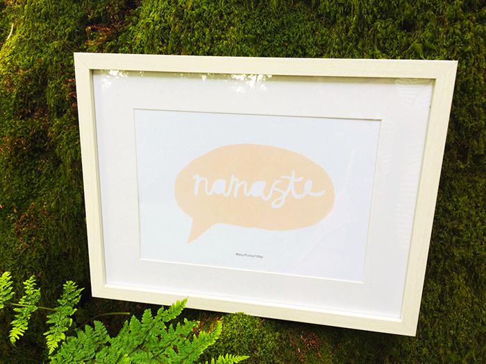 Namaste – FREE printable #4