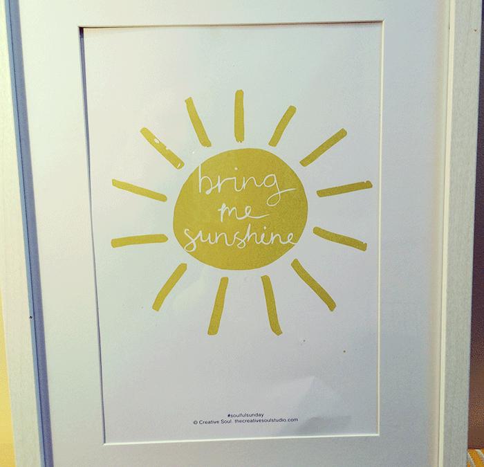 Bring Me Sunshine – Free Printable #5