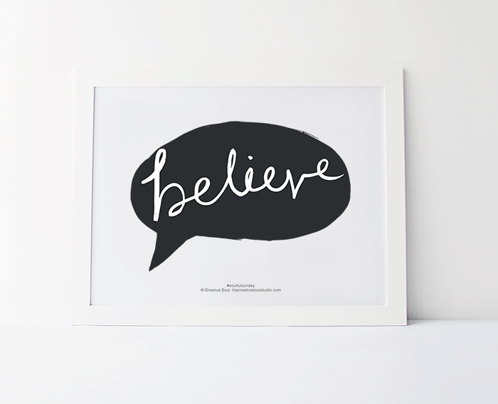 Believe – FREE Printable #6