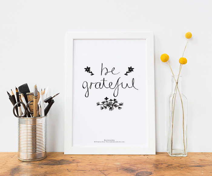 Be Grateful – FREE Printable #7
